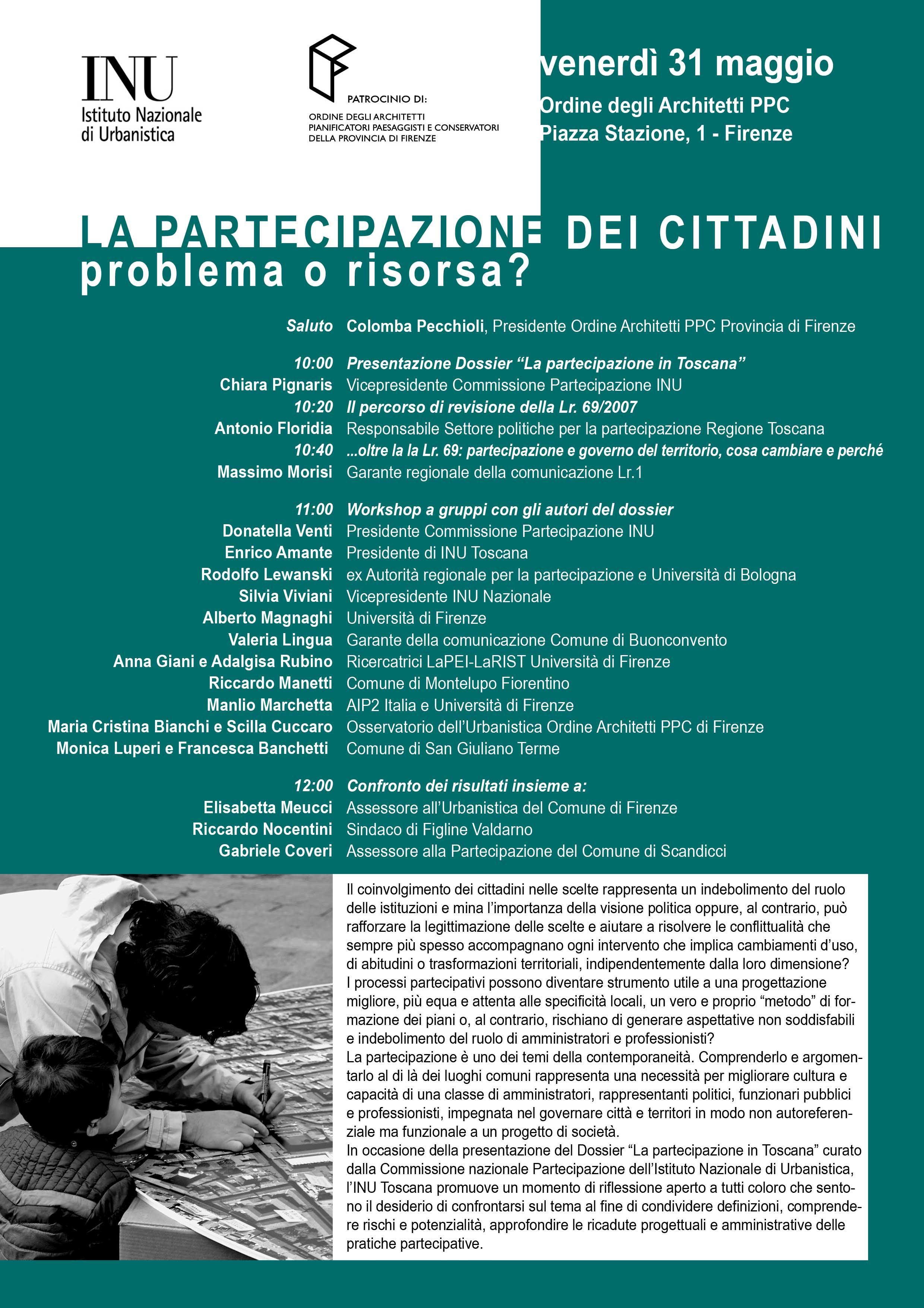 Invito seminario 31 maggio a Firenze, ore 10 - Piazza della Stazione 1
