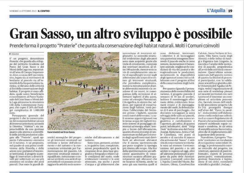 IL CENTRO - quotidiano d'Abruzzo - 11/10/2013 - pag. 19