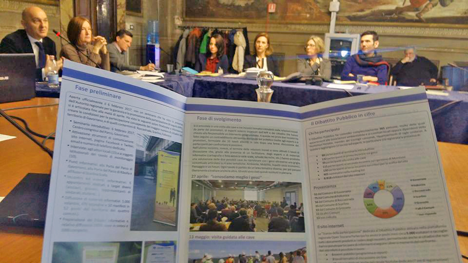 incontro in regione 15 gennaio 2018_valutazione Dibattito Pubblico